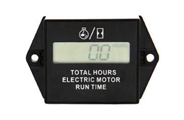 Betriebsstundenzähler für Elektromotor, LCD-Anzeige, IP65