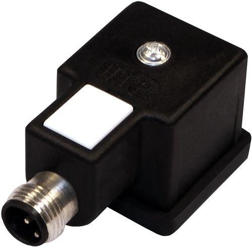 Ventilstecker Bauform A (18mm) Höhe 27,2mm 2+2PE - Sensorstecker M12 Stift 3P