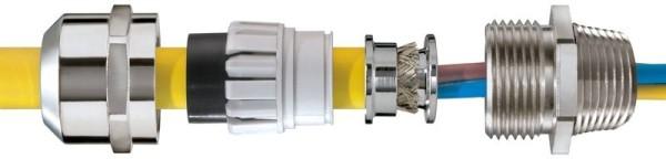 SPRINT EMV-Kabelverschraubung, NPT, Erdungseinsatz DIN 89345, NMSKV 1/4 EMV-Z, NPT1/4*, 3 - 7 mm