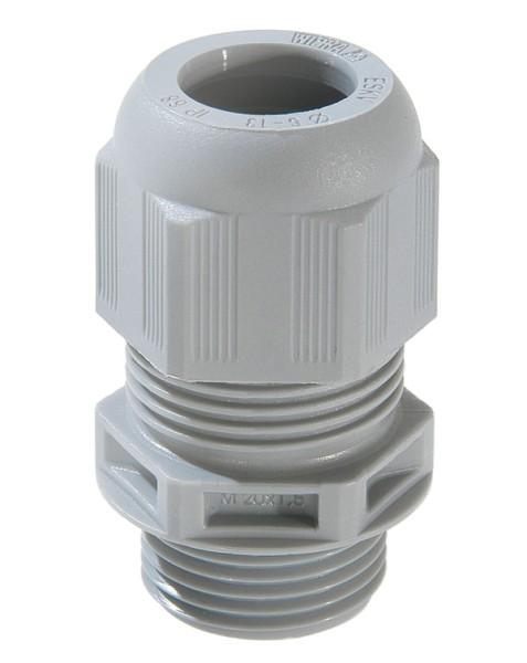 SPRINT-Kabelverschraubung mit Zugentlastung, IP 68, Polyamid, RAL7001 grau, ESKV 32, M32x1,5, 13 - 21 mm