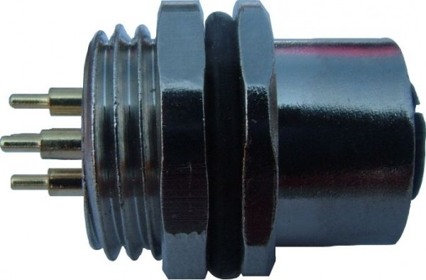 Sensorstecker M12 A-Codierung Buchse Vorderwandmontage PG9 Lötanschluß 4P