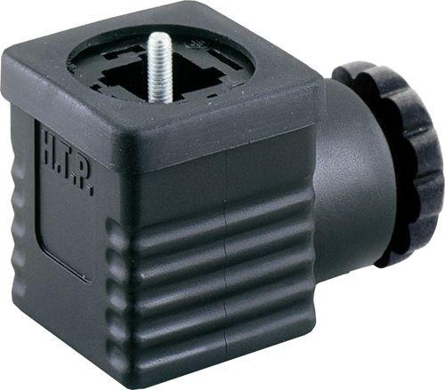 Ventilstecker Bauform A (18mm) Höhe 30mm 2+PE mit Brückengleichrichter 230V PG9/11