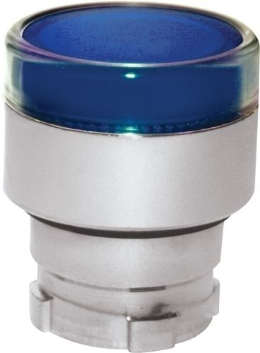 Drucktaster beleuchtet Metall bündig Blau