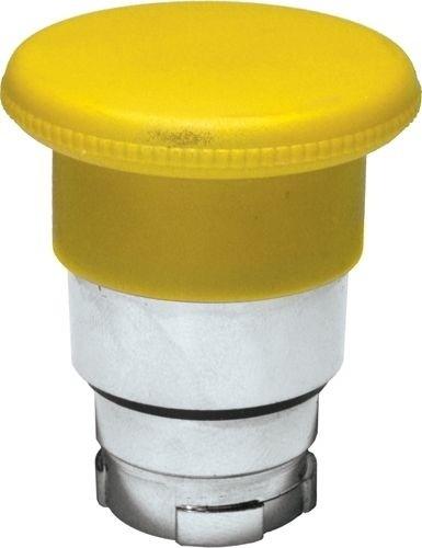 Pilzdrucktaster Metall 40mm tastend Gelb