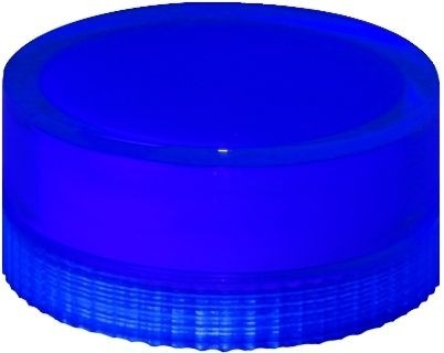 Lampenglas glatt für beleuchteten Drucktaster mit Glühlampe Blau
