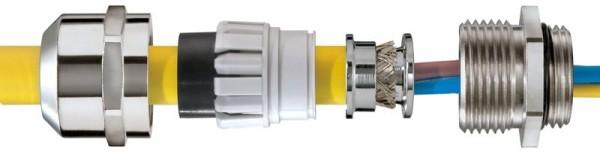 SPRINT EMV-Kabelverschraubung LowTemp, Erdungseinsatz DIN 89345, Edelstahl, ESSKV4- LT EMV-Z 63, M63x1,5, 34 - 48 mm