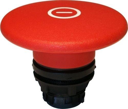 Pilzdrucktaster Plastik 60mm tastend Rot