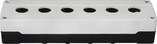Leergehäuse PC 6 Löcher Unterteil: Schwarz Deckel: Weiß 273x73x51mm