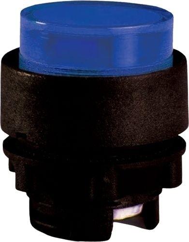 Drucktaster beleuchtet Plastik vorstehend Blau