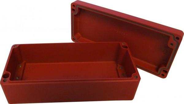 Aluminium-Druckguss-Gehäuse efabox 175x80x57mm IP68 Silikondichtung RAL3001 Rot
