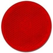 Rückstrahler 60mm rot rund selbstklebend