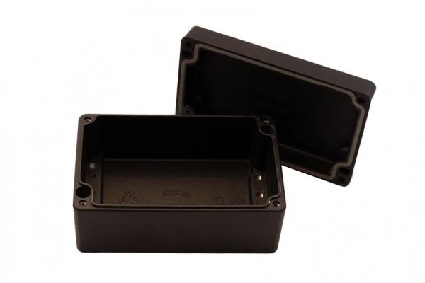 Aluminium-Druckguss-Gehäuse efabox 125x80x57mm IP69K Silikondichtung RAL9005 Schwarz