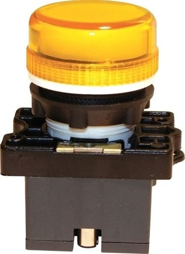 Meldeleuchte Plastik Gelb + Fassung + Glühlampe 12V