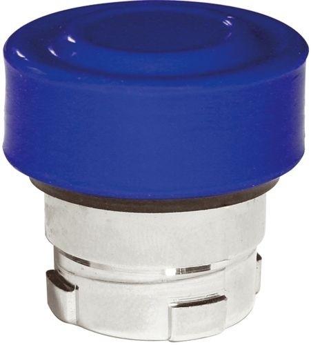 Drucktaster Metall bündig Blau + Kappe Blau