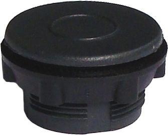 Blindstopfen Plastik für 22,5mm Loch grau / schwarz