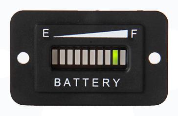 Batteriestandsanzeige, LED-Balkenanzeige, hexagonal, 20mA, 12-24VDC, IP65