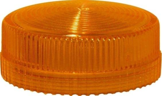 Lampenglas geriffelt für Meldeleuchte mit LED Orange
