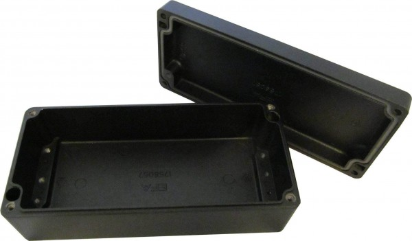 Aluminium-Druckguss-Gehäuse efabox 175x80x57mm IP68 Silikondichtung RAL9005 Schwarz
