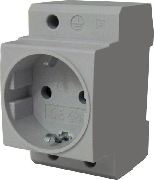 Steckdose für Hutschienenmontage Typ F (D) 250V 16A