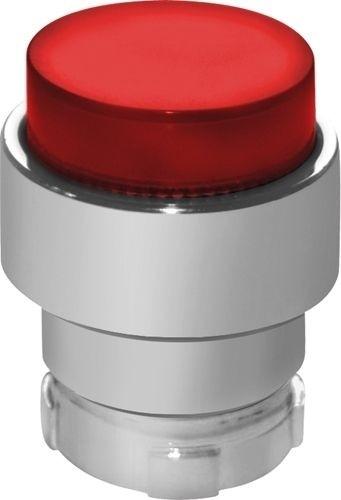 Drucktaster beleuchtet Metall vorstehend Rot