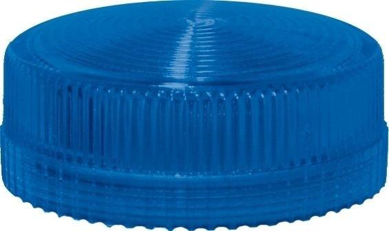 Lampenglas geriffelt für Meldeleuchte mit LED Blau