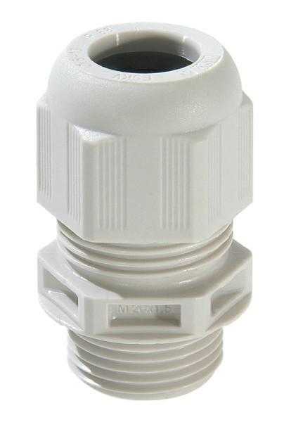 SPRINT-Kabelverschraubung mit Zugentlastung, IP 68, Polyamid, RAL7035 grau, ESKV 12, M12x1,5, 3 - 7 mm