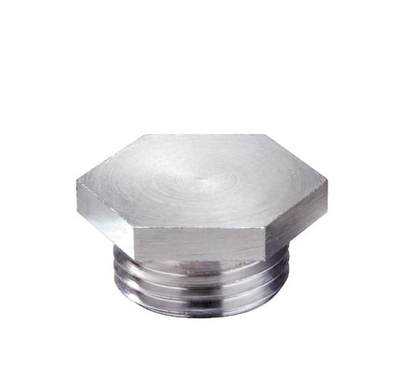 Verschlussschraube metrisch nach DIN 89 280 Messing verchromt, VSM 16 Cr, M16x1,5,