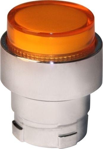 Drucktaster beleuchtet Metall vorstehend Orange