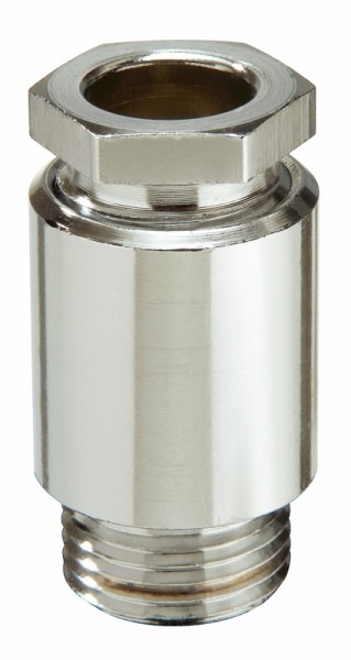 Kabelverschraubung aus Messing, Dichtring aus EPDM, Messing vernickelt, ohne Erdungseinsatz, KVM 24-W10A Ni, M24x1,5, 8 - 10,5 mm