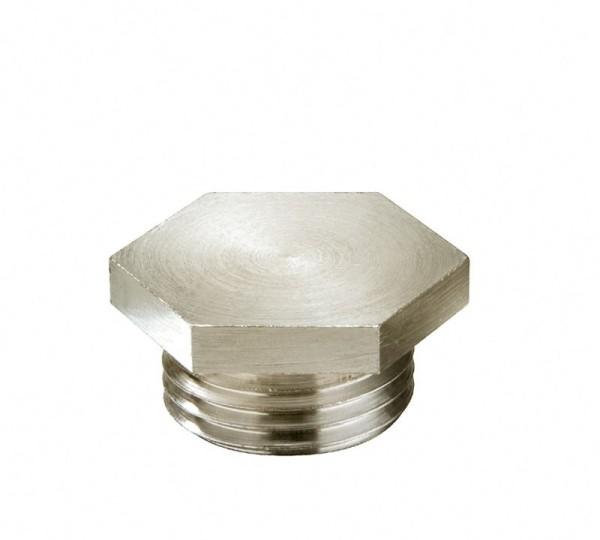 Verschlussschraube metrisch nach DIN 89 280 Messing vernickelt, VSM 105 Ni**, M105x2