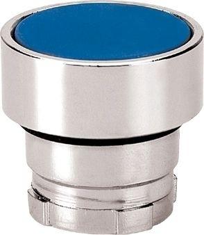 Drucktaster Metall bündig Blau