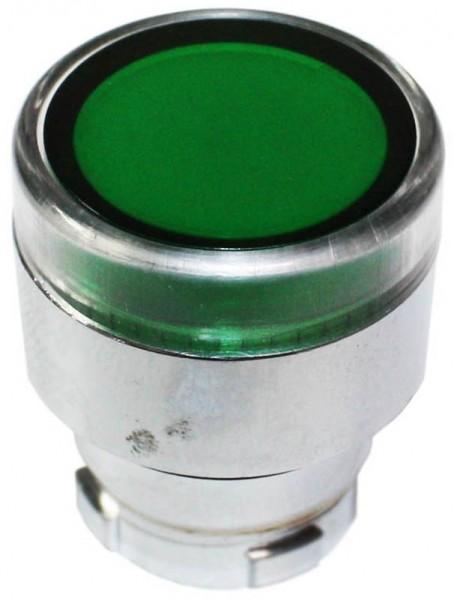Drucktaster beleuchtet Metall bündig Grün