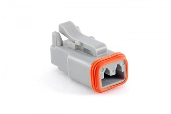 Steckergehäuse für Buchsenkontakte, 2-polig / AT06-2S