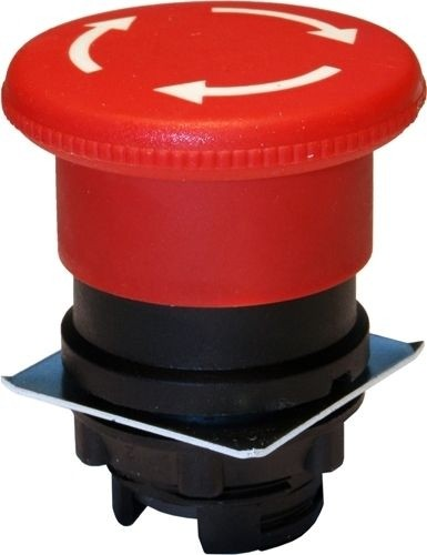 Pilzdrucktaster Plastik 40mm Drehentriegelung Rot