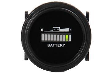 Batteriestandsanzeige, LED-Balkenanzeige, rund, 20mA, 12-72VDC, IP65
