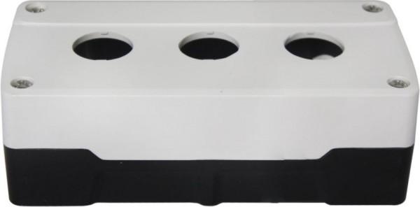 Leergehäuse PC 3 Löcher Unterteil: Schwarz Deckel: Weiß 153x73x51mm