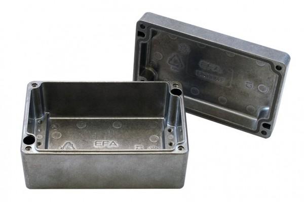 Aluminium-Druckguss-Gehäuse efabox 125x80x57mm IP69K Silikondichtung unbeschichtet