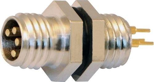 Sensorstecker M8 Stift Vorderwandmontage M8x1 Lötanschluß 3P