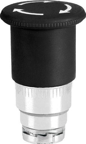 Pilzdrucktaster Metall 40mm überlistungssicher Drehentriegelung Schwarz