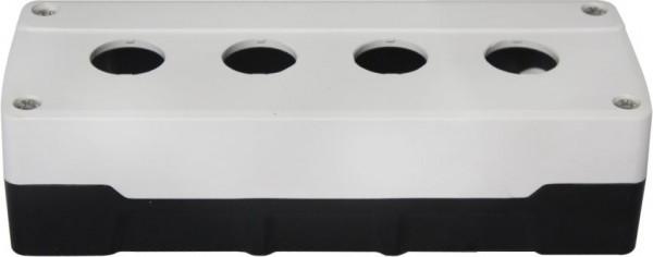 Leergehäuse PC 4 Löcher Unterteil: Schwarz Deckel: Weiß 193x73x51mm