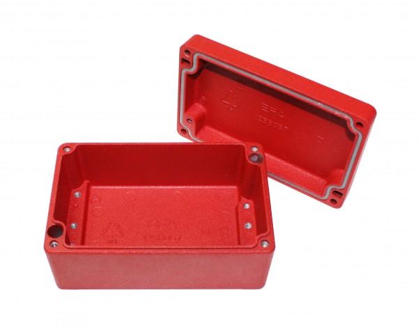 Aluminium-Druckguss-Gehäuse efabox 125x80x57mm IP69K Silikondichtung RAL3001 Rot