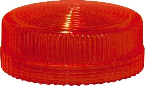 Lampenglas geriffelt für Meldeleuchte mit LED Rot