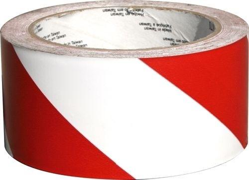 Signalklebeband Rot-Weiß Rolle 33m Breite 50mm