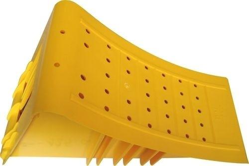 Bremskeil, Hemmschuh, Unterlegkeil, gelb, aus Plastik