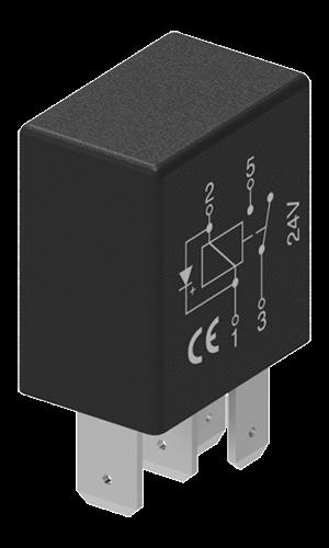 Mikrorelais CO 24V 15/10A 5P mit Diode