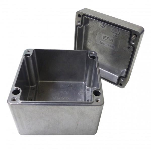 Aluminium-Druckguss-Gehäuse efabox 100x100x81mm IP68 Silikondichtung unbeschichtet