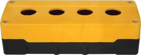 Leergehäuse PC 4 Löcher Unterteil: Schwarz Deckel: Gelb 193x73x51mm
