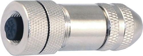 Sensorstecker M12 A-Codierung Buchse gerade Metallgehäuse PG9 Schraubanschluss 5P -ATEX-