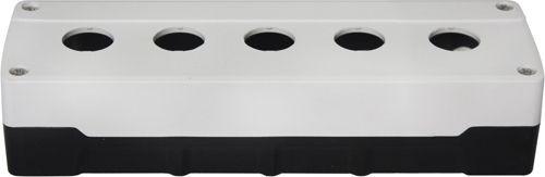 Leergehäuse PC 5 Löcher Unterteil: Schwarz Deckel: Weiß 233x73x51mm