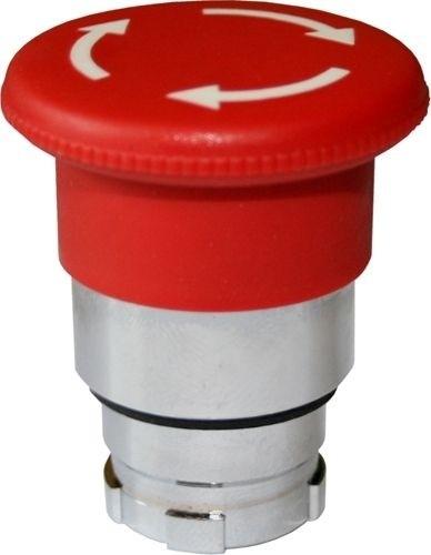 Pilzdrucktaster Metall 40mm Drehentriegelung Rot